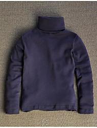 Tee-shirts Fille de Couleur Pleine Décontracté / Quotidien Coton Hiver / Automne Noir