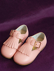 Girl's Flats Spring Fall Others Comfort Cowhide Casual Flat Heel Magic Tape Pink Others