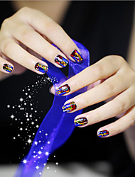10PCS/SET  Nail Art Star Paper 4CM*20CM Fashion Luxuriant And Easy To Operate 10 Kinds Of Color Randomly Send