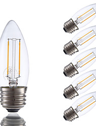 2W E26 LED Filament Bulbs B10 2 COB 200 lm Warm White Dimmable 120V 6 pcs