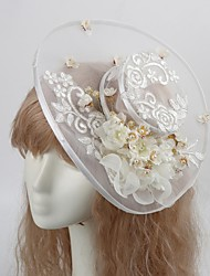 Women's Tulle / Imitation Pearl / Fabric Headpiece-Wedding / Special Occasion / Casual / Outdoor Hats 1 Piece