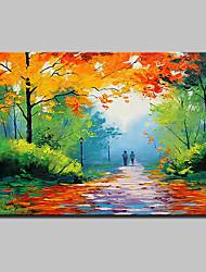 Peint à la main Paysage Paysages Abstraits Horizontale,Moderne Un Panneau Toile Peinture à l'huile Hang-peint For Décoration d'intérieur
