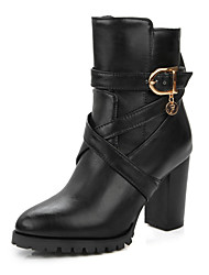 Women's Boots Fall / Winter Fashion Boots / Combat Boots Office & Career / Dress / Casual Chunky Heel Buckle / Zipper
