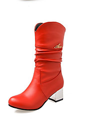 Women's Boots Winter Others PU Dress / Casual Low Heel Others Black / Red / Beige Others