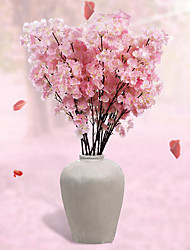 Set of 1 PCS 1 Branch Polyester Sakura Tabletop Flower Artificial Flowers Wedding Scene Arrangement Long 43.3(inch)
