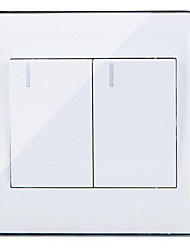 Wall Socket Two Open Double Control Switch Panel