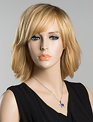 Short Side Bang Natural Wave Human Hair Wig For Women