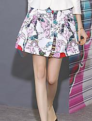 Damen Röcke - Niedlich Übers Knie Polyester Mikro-elastisch