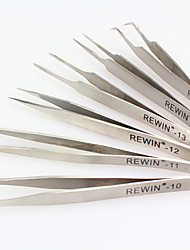 REWIN TOOL 6PCS  Stainless Steel Tweezers Set