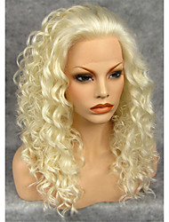 IMSTYLE 20''High Quality Beautiful Medium Curly Synthetic Lace Front Wigs High Heat Resistant