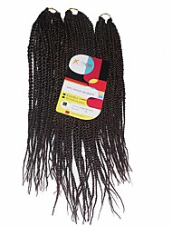 Sénégal Tresses Twist Extensions de cheveux 18Inch+20Inch+22Inch Kanekalon 81 Strands Brin 200g gramme Braids Hair