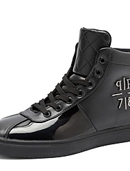 Men's Fashion Sneakers Casual//Party & Evening Microfiber Leather Medium cut Flat Board Shoes