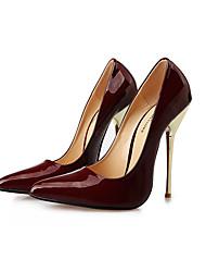 Белый Черный Красный Вино-Для женщин-Для вечеринки / ужина-Полиуретан-На шпилькеОбувь на каблуках