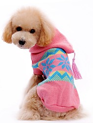 Cat / Dog Sweater / Hoodie Pink Dog Clothes Winter / Spring/Fall Color Block Cute / Casual/Daily