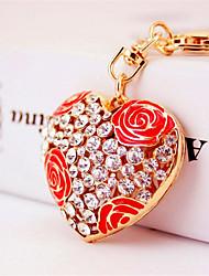 Creative Fashion Car Ornaments Rose Heart Key Chain