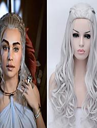 Mujer Pelucas sintéticas Ondulado Rubio dorado Gris Peluca con trenzas Trenzas africanas Con coleta Peluca de cosplay Las pelucas del