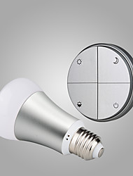 Battery-Free Self-powered Wireless Remote Control E27 Smart Dimmable LED Bulb-Silver  Switch & Silver Bulb