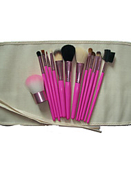 13 Makeup Brushes Set Others Portable Wood Face