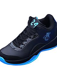 Femme-Décontracté-Noir / Bleu / Rouge-Talon Plat-Confort-Sneakers-Polyuréthane
