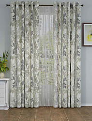 1 панель Окно Лечение Оригинальный рисунок , Цветы Гостиная Полиэстер материал Шторы портьеры Украшение дома For Окно