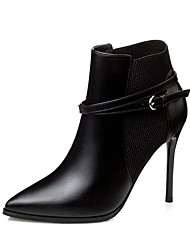 Women's Boots Fall / Winter Others Party & Evening / Dress Stiletto Heel Buckle / Others / Split Joint Black