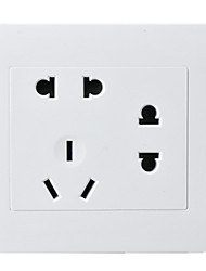 Seven Hole Socket PC Panel Two Two Three Plug 86 Type Concealed Wall Switch Socket / Four Package For Sale
