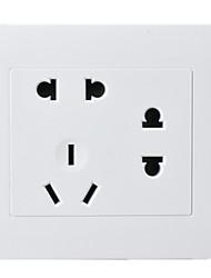 siete hoyos panel de conexión de la PC de dos, dos, tres enchufe 86 Tipo de enchufes de pared oculta / cuatro paquete de venta