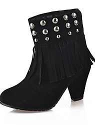 Women's Boots Fall Winter Comfort PU Casual Chunky Heel Black Other