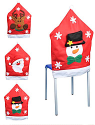 3pcs Fashion Santa Clause Cap Red Hat Furniture Chair Back Cover Christmas Dinner Table Party Xmas