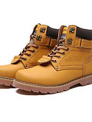 Men's Sneakers Spring / Fall Comfort Fabric Casual Flat Heel  Brown / Yellow / Khaki Sneaker