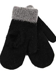 mit Kaninchenhaar Ball verärgert weibliche Handschuhe (schwarz Kaninchenhaar Ball Handschuhe) verdoppeln