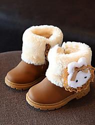 Girl's Boots Comfort Fleece Casual Pink Khaki Fuchsia