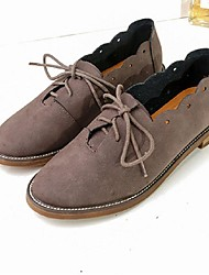 Women's Oxfords Fall Comfort Casual Low Heel Lace-up Brown / Almond Walking