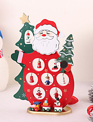 Xmas Wooden Decoration Dolls Santa Claus Furnishing Articles Ornament Table Desk Crafts Toy Christmas Decoration