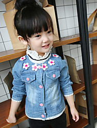 Girl's Casual/Daily Floral Jacket & CoatCotton Spring / Fall Blue