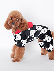 Dog Hoodie Black / Pink / Coffee Dog Clothes Winter / Spring/Fall Flower Cute / Casual/Daily /