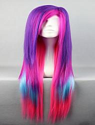 charmante femmes cheveux qualité spéciale multi couleur mode synthétique style lolita arc perruque cosplay