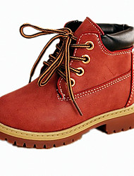 Unisex Boots Winter Others PU Casual Flat Heel Others / Lace-up Black / Brown / Red Others