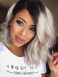 Mode Schönheit Welle schwarzen Farbverlauf synthetische Perücken neue Frisur grau