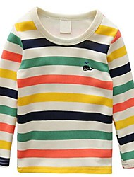Boy's Casual/Daily Striped Tee,Cotton Spring / Fall Multi-color