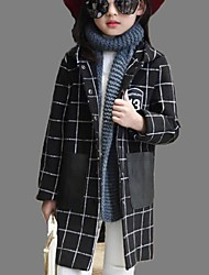 Girl's Casual/Daily Print Trench CoatPolyester Winter / Fall Black / Red