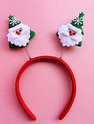 2PCS Christmas Headband Head Buckle Christmas Gift Gift Christmas Decorations Hoop Students(Style Random)