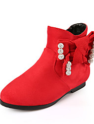 Girls Fashion Cowhide Bootie  Flat Heel Athletic Running Snow Boots Student dance Boot Knee Low Boots Riding Boots