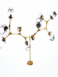 Delight Wired Others Glass Branches Of Magic Beans Bedroom Study Chandelier White