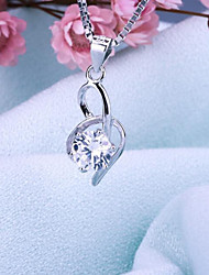 Women's Jewelry S925 Silver Zircon Charm Pendant for Women
