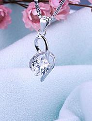 jóias s925 prata zircão pendente charme feminino para as mulheres
