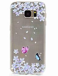 Pour Motif Coque Coque Arrière Coque Papillon Flexible PUT pour Samsung S8 S7 edge S7 S5 Mini S5