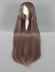 New Style 100cm Long Straight Light Brown Synthetic Cosplay Wig