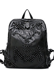 Women Other Leather Type Sports / Casual / Outdoor Backpack Black