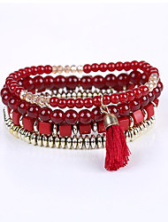 The New Trend of European and American Fashion Exquisite Bead Bracelet Elastic Multilayer Three-Dimensional Box Factory Direct Multilayer Bracelet